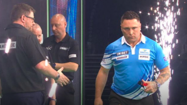 Gerwyn Price criticised for bizarre behaviour in defeat to James Wade