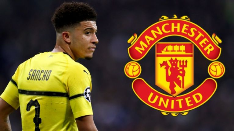 Jadon Sancho 50/50 to join Manchester United this summer