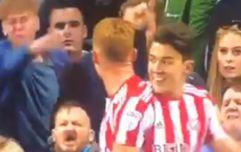 Portsmouth fan kicks Sunderland player