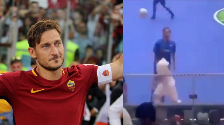 Francesco Totti responds perfectly to youngster's cheeky flick