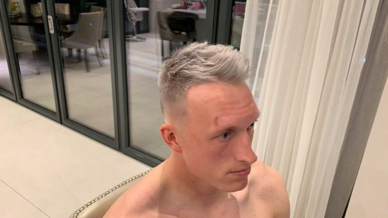 Phil Jones dyes his hair grey as he enters off-season