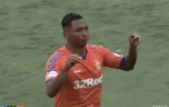 Alfredo Morelos scores and is booked for mocking opposition fans because of course he is