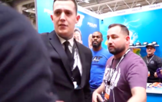 Jon Jones confronted by British heavyweight at health and fitness expo