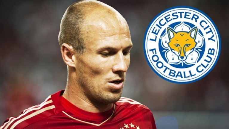 Leicester City installed as favourites to sign Arjen Robben