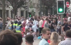Portuguese police clash with England fans in Porto