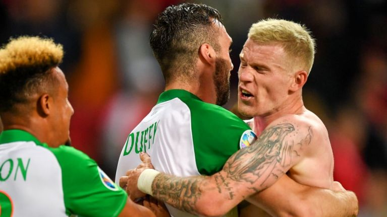 James McClean knew exactly what he wanted to say to the Danes