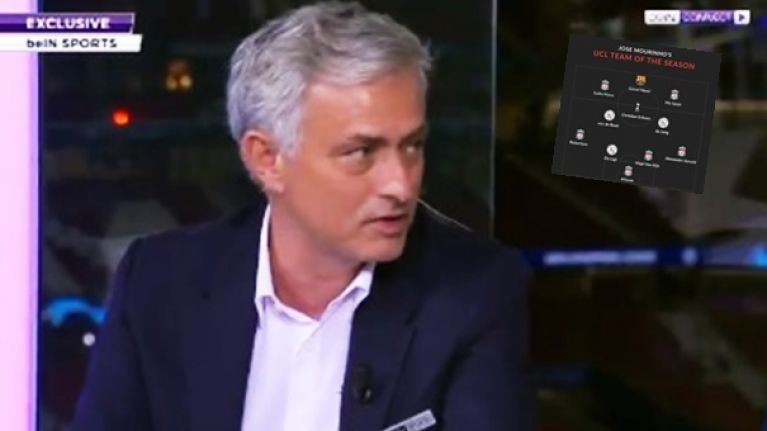 Liverpool dominate Mourinho's team of the Champions League