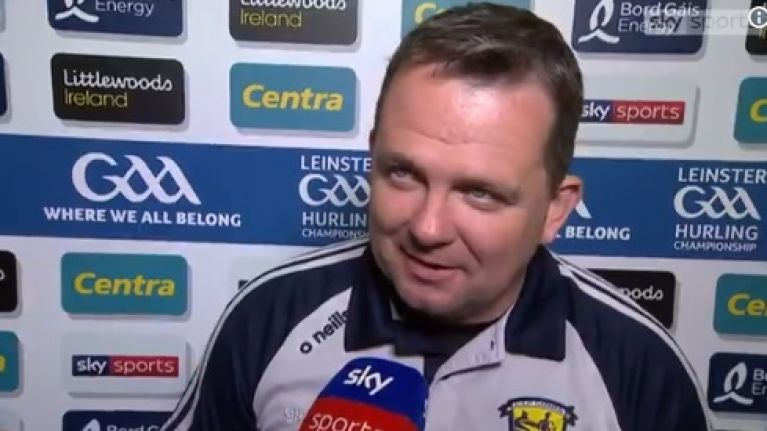 Even the referee praised in brilliant Davy Fitzgerald interview