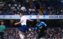 Gary Neville rinses Jamie Carragher after Usain Bolt goal