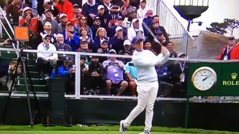 Rory McIlroy hailed 'King of the North' after teeing off at Pebble