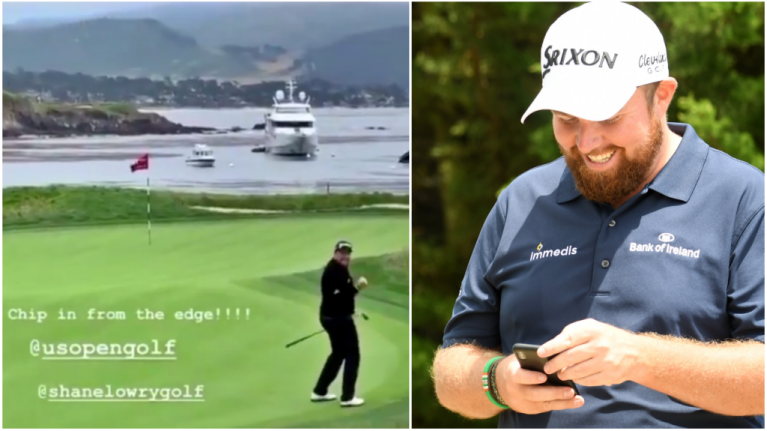 Fans gets best Pebble Beach footage of gorgeous Shane Lowry shot