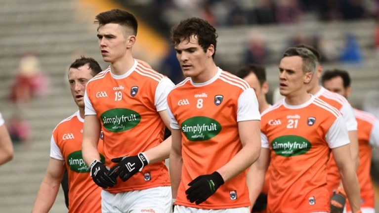 Armagh provide update on Jarlath Óg Burns following hospital visit