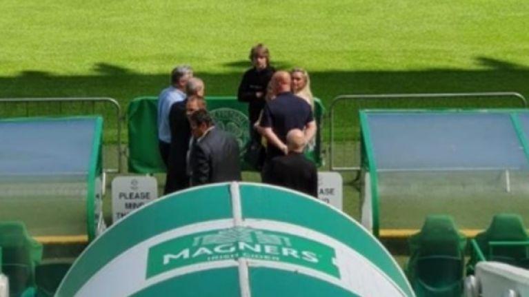Ireland international spotted at Celtic Park