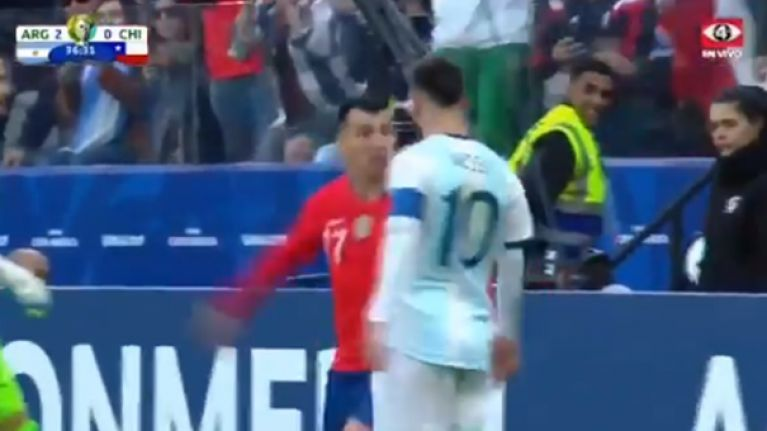 Lionel Messi and Gary Medel both sent off after Copa America altercation