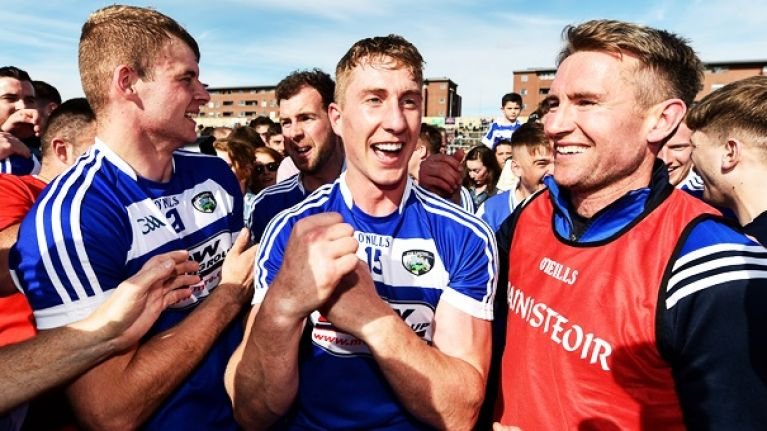 """They had a few pints Sunday night and they had a few more Monday"" Laois hurlers celebrating good times"