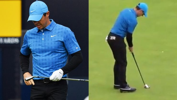 Disastrous first hole leaves Rory McIlroy's British Open hopes in jeoprady