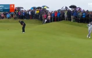 Shane Lowry sinks huge putt to extend lead at The Open