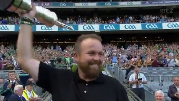 Shane Lowry receives standing ovation at Croke Park