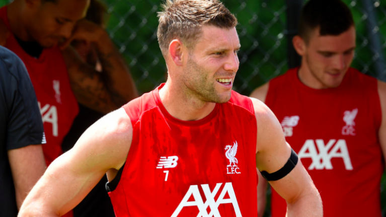 James Milner smashes Liverpool's toughest pre-season drill for fifth year running