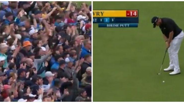 Portrush crowd goes wild as Shane Lowry sinks seventh birdie of the day