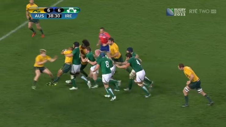 Rugby World Cup rewind: Stephen Ferris rag dolls Will Genia