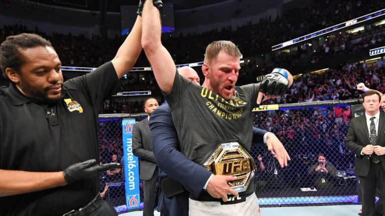 Stipe Miocic ruthlessly finishes Daniel Cormier to reclaim UFC heavyweight belt