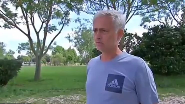Jose Mourinho wells up when talking about missing football