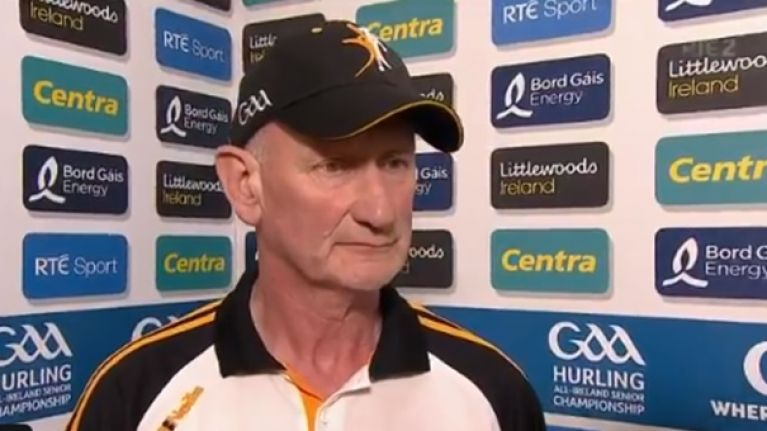 Brian Cody: You'd want to be very sure that was a red card
