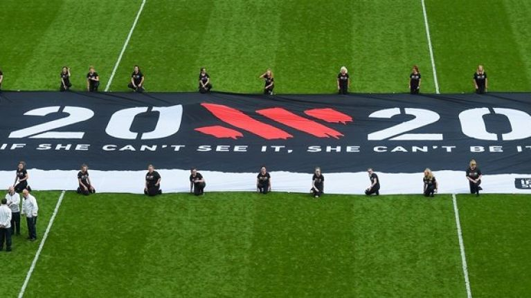 Great scenes at Croke Park as 20x20 banner is proudly flown during All-Ireland semi-final