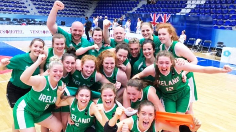 Irish u20 basketballers create history again with famous win over Great Britain