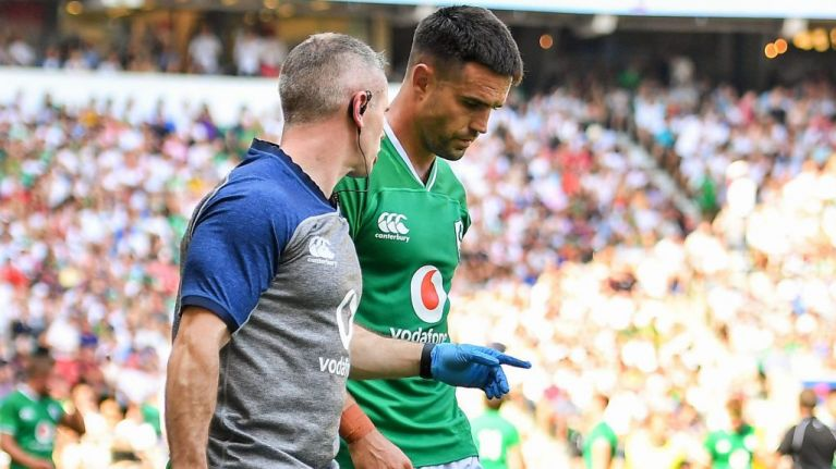Worrying scenes at Twickenham as Conor Murray cops Jonny May elbow