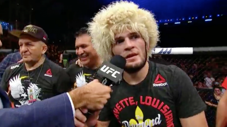 Khabib makes class post-fight gesture to defeated Poirier