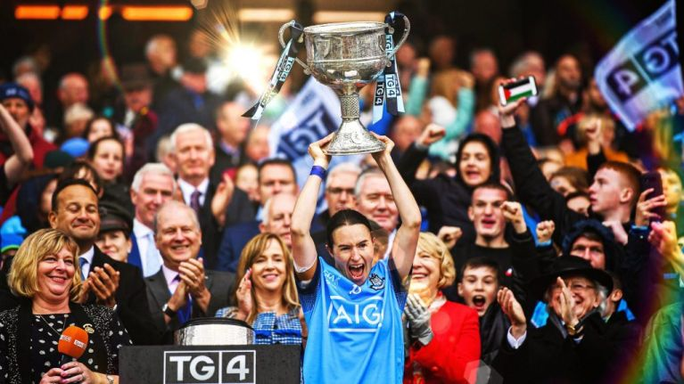 Record crowd watches Dublin ladies win three in a row