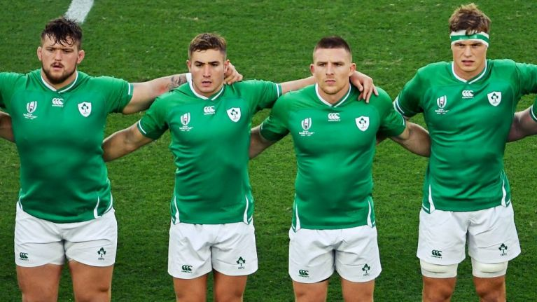 Jordan Larmour and Andrew Conway borrowed two jerseys and did them proud