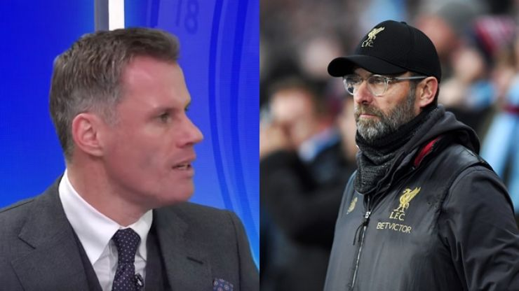 Jamie Carragher suggests Liverpool change formation after Man City loss