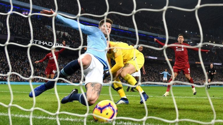John Stones was pretty pleased with himself after his goal-line clearance against Liverpool