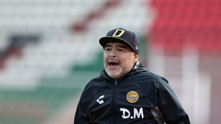 Diego Maradona sent to hospital with stomach bleeding