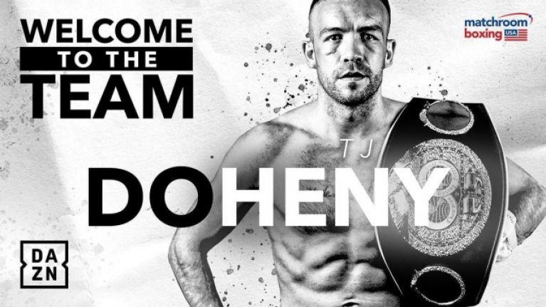 Eddie Hearn signs up Portlaoise's world champion TJ Doheny
