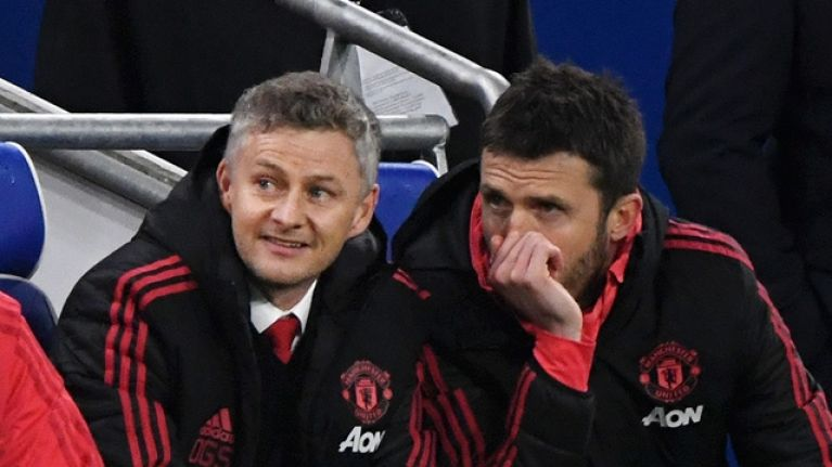 Michael Carrick lavishes praise on Ole Gunnar Solskjaer