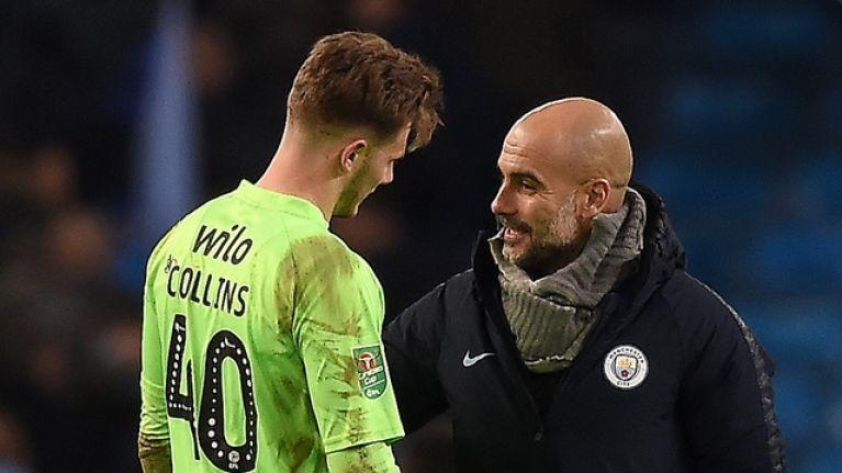 Manchester City score nine goals against Burton Albion in first leg of League Cup semi-final