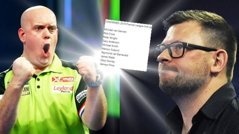 Gurney gets the nod as line-up for 2019 Premier League darts confirmed