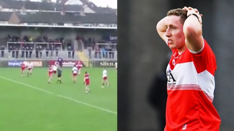 Referee pulls Derry for just one handpass