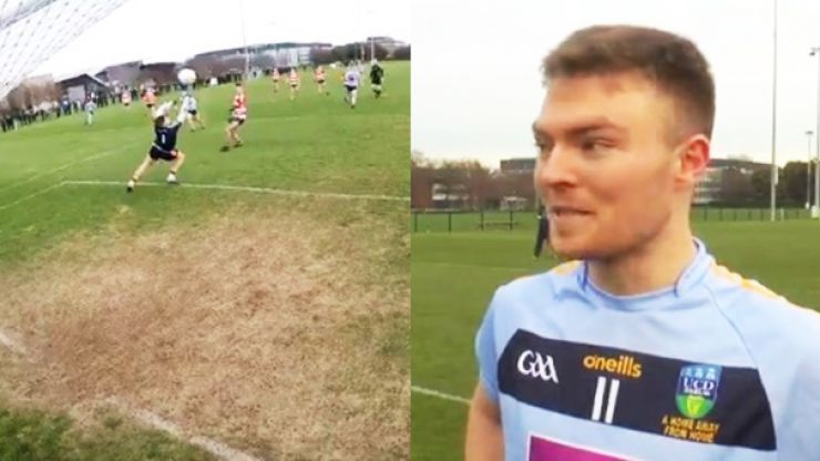 The nuclear missile from Conor McCarthy that shattered camera behind the goals