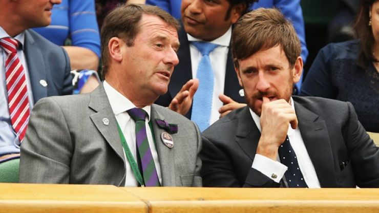 Bradley Wiggins has a crack at Wimbledon and 'elitist' sports
