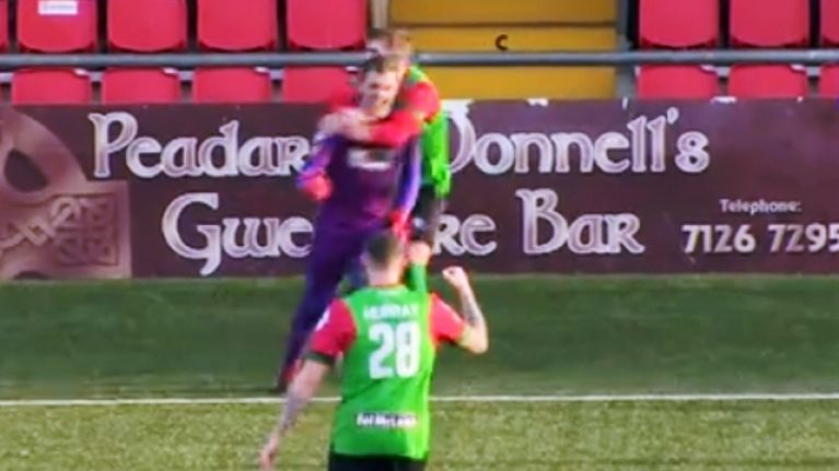 Glentoran raise the bar for goalkeepers everywhere after unbelievable goal