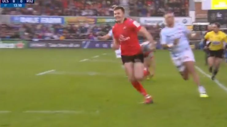Jacob Stockdale scores his fifth and sixth try of the Pool stages