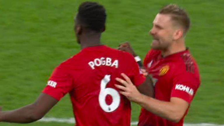 Paul Pogba went absolutely ballistic at Luke Shaw in Man United's win over Spurs