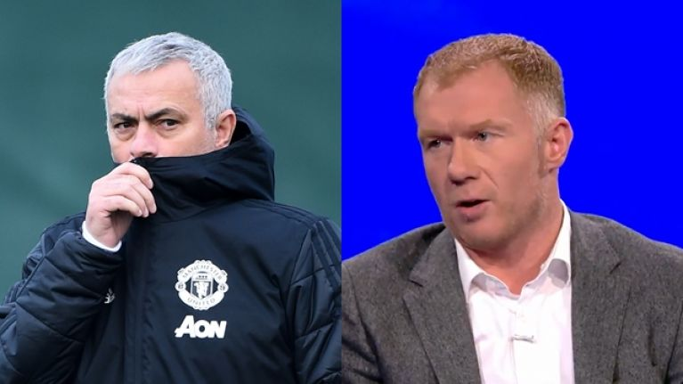 Paul Scholes offers a final, damning criticism of Jose Mourinho's time at Man United