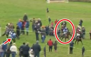 Waterford jockey somehow stays on board and wins after final fence blunder
