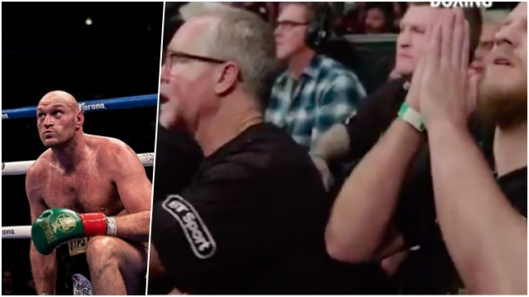 Footage of Tyson Fury's corner in unforgettable 12th round against Deontay Wilder is must-see